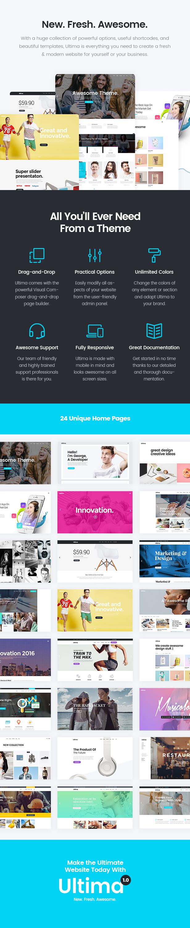 WordPress theme Ultima - A Multi-Purpose WordPress Theme (Business)